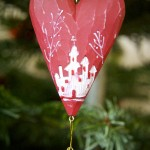 Christmas Decoration – Engraved Wooden Heart