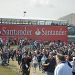 Crowds around behind Abbey Grandstand