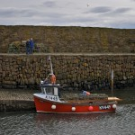 Red Boat in Crail Harbour