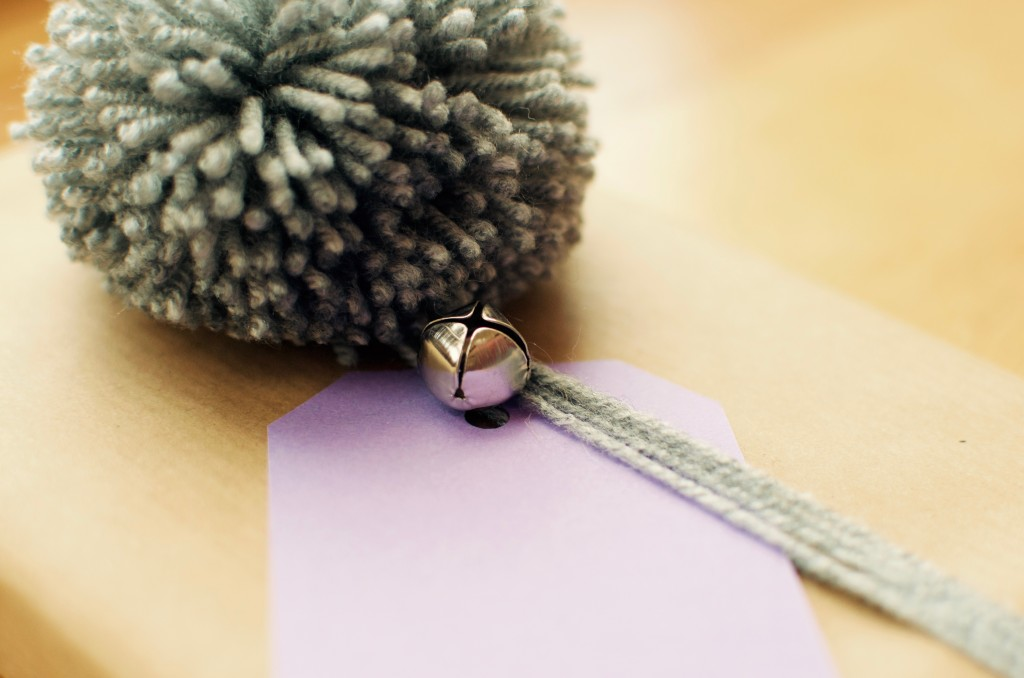Grey Pom Pom and Bell