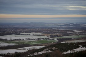 Snowy view to East Lothian and beyond