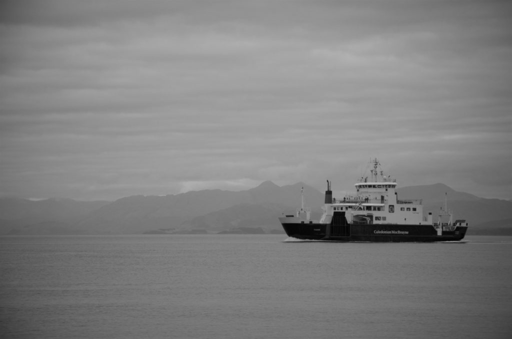 Ferry passing by